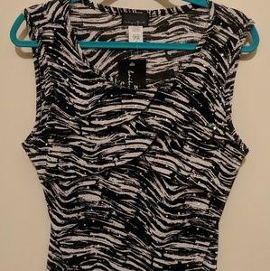 ~Zebra dressy sleeveless blouse~Size X-Large~